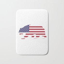 American Flag Bear Bath Mat
