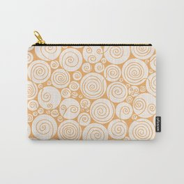 Still Waiting For Spring Bright Orange Pattern Carry-All Pouch