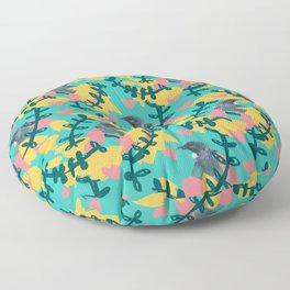 Blocky Tui Heart Print Floor Pillow