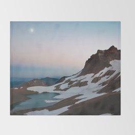 Alpine Lake Moonrise Throw Blanket