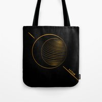 lunar Tote Bags featuring Lunar  by Cletomckillop