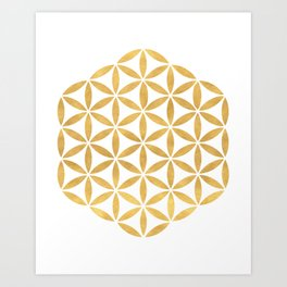 FLOWER OF LIFE sacred geometry Art Print