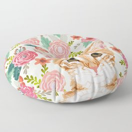 Tabby Cat florals cute spring garden kitten orange tabby cat lady funny girly cat art pet gifts  Floor Pillow