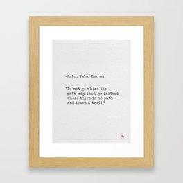Quote Ralph Waldo Emerson Framed Art Print