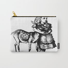 Alice and the Fawn in Black with Transparent Background Carry-All Pouch