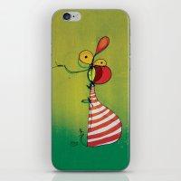 ballon iPhone & iPod Skins featuring Ballon Man by Gokce Gurellier
