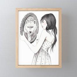 White Ghost Framed Mini Art Print