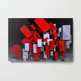 red and white boxes - landscapeformat Metal Print