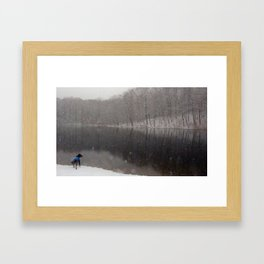 A date with the dog Framed Art Print