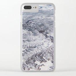 North America winter landscape aerial shot Clear iPhone Case