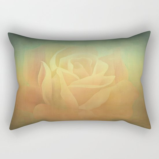Evening Rose Shadows Rectangular Pillow
