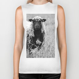 Sheep with sharp eyes Biker Tank