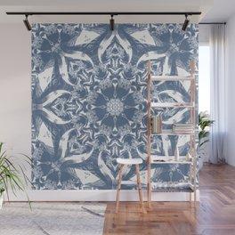 Denim and White Mandala Wall Mural