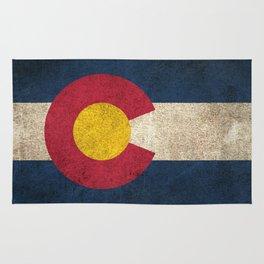 Old and Worn Distressed Vintage Flag of Colorado Rug