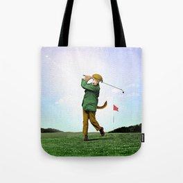 Sir Terrance Terrier Golfing Tote Bag