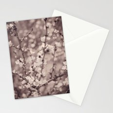 Spring Floral Branches in Sepia Stationery Cards