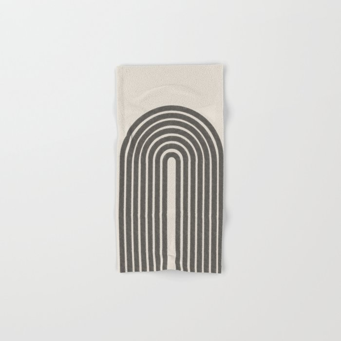 Rainbow Art, Geometric Mid Century, Hand & Bath Towel