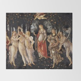 La Primavera - Allegory Of Spring - Sandro Botticelli Throw Blanket