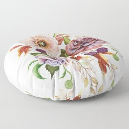 Fall Poppy Bouquet Floor Pillow