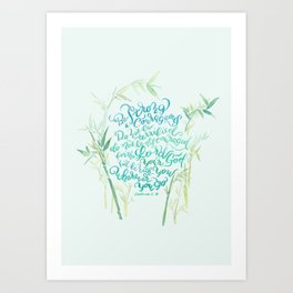Be Strong and Courageous - Joshua 1:9 - bamboo Art Print