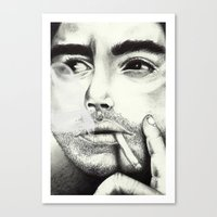 robert downey jr Canvas Prints featuring Robert Downey Jr by Shara Perry