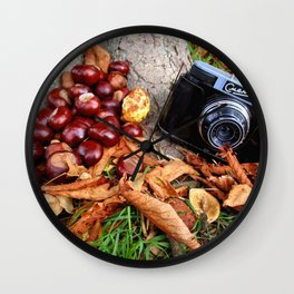 Autumnal Caprice Wall Clock