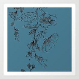 Botani Line III Art Print