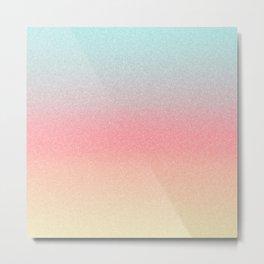 Frozen Ombre - Yellow, Pink & Blue Metal Print