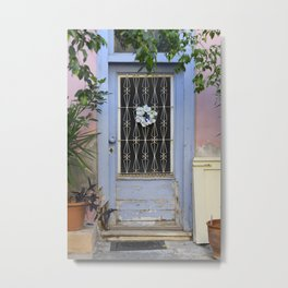 Door in port of Aegina 1 Metal Print