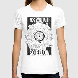 As Above, So Below - Zodiac Illustration T-shirt