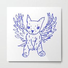 bluepen drawing - M Metal Print