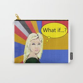 What if...popart female portrait Carry-All Pouch