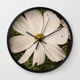 White Flower in Vintage Wall Clock