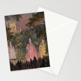 Fountain at Pernes-Les-Eaux, Provence, France by Laura Sylvia Gosse Stationery Cards