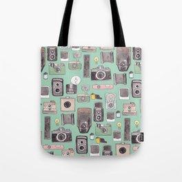 Vintage Camera Print Tote Bag