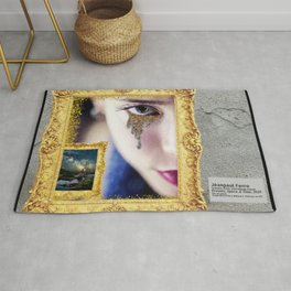 Dreams, Space, & Time - Female Portrait painting Rug