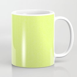 Dense Melange - White and Fluorescent Yellow Coffee Mug