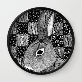 Tail of a Rabbit Wall Clock
