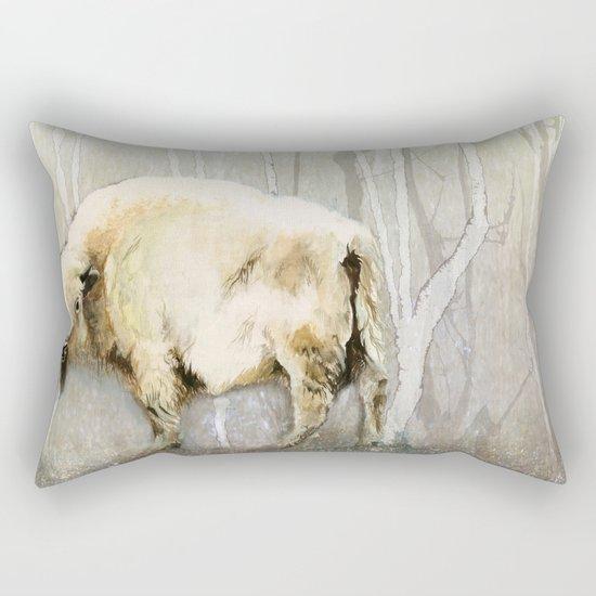 White Buffalo's Hollow Rectangular Pillow