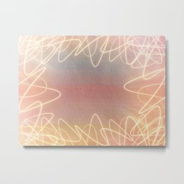 Tangled Light Metal Print