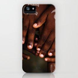 Hands symbol iPhone Case
