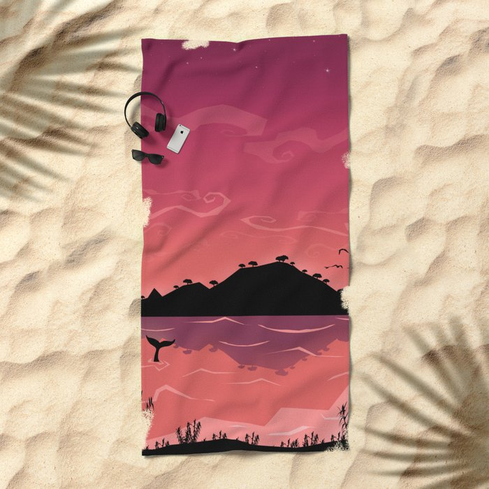 Perfect place for perfect love Beach Towel