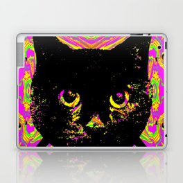Purple Streak Quad Cat Laptop & iPad Skin