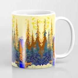 Spruce Trees Forest Browns-sage Green Modern Landscape Coffee Mug