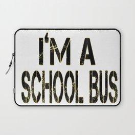 Pretend I'm A School Bus Lazy Halloween Costume Laptop Sleeve