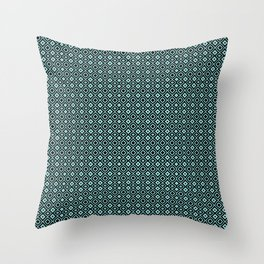 Celosia Aqua Black Throw Pillow