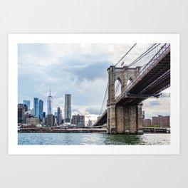 Brooklyn Bridge and Skyline of New York Art Print