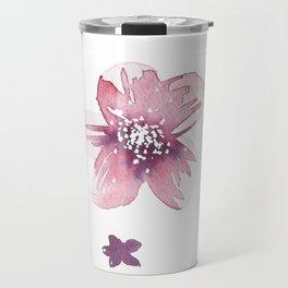 Lilac Pink Watercolour Fiordland Flower Travel Mug