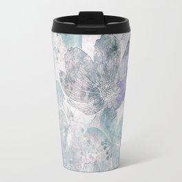 Nostalgic Pastel Flower Art Travel Mug