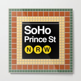 subway soho sign Metal Print